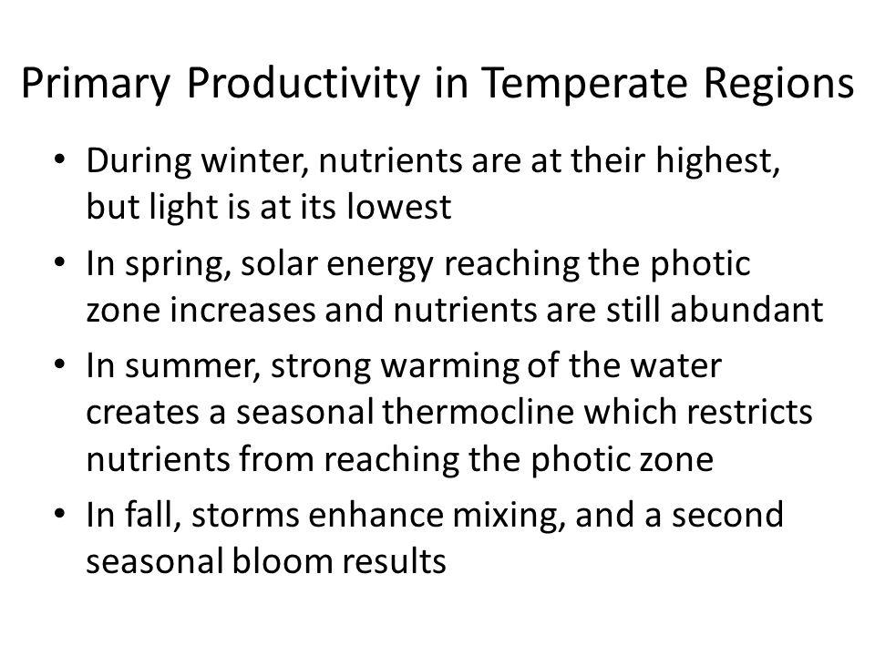 Primary Productivity in Temperate Regions