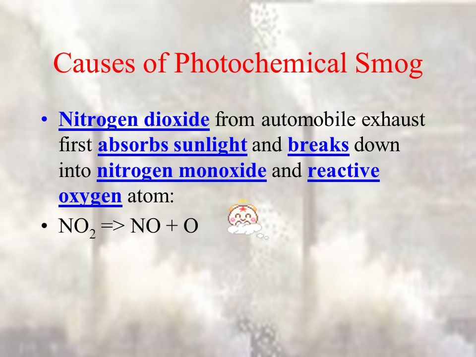 Causes of Photochemical Smog