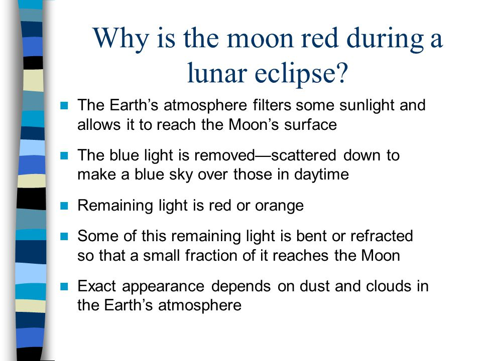 Why is the moon red during a lunar eclipse