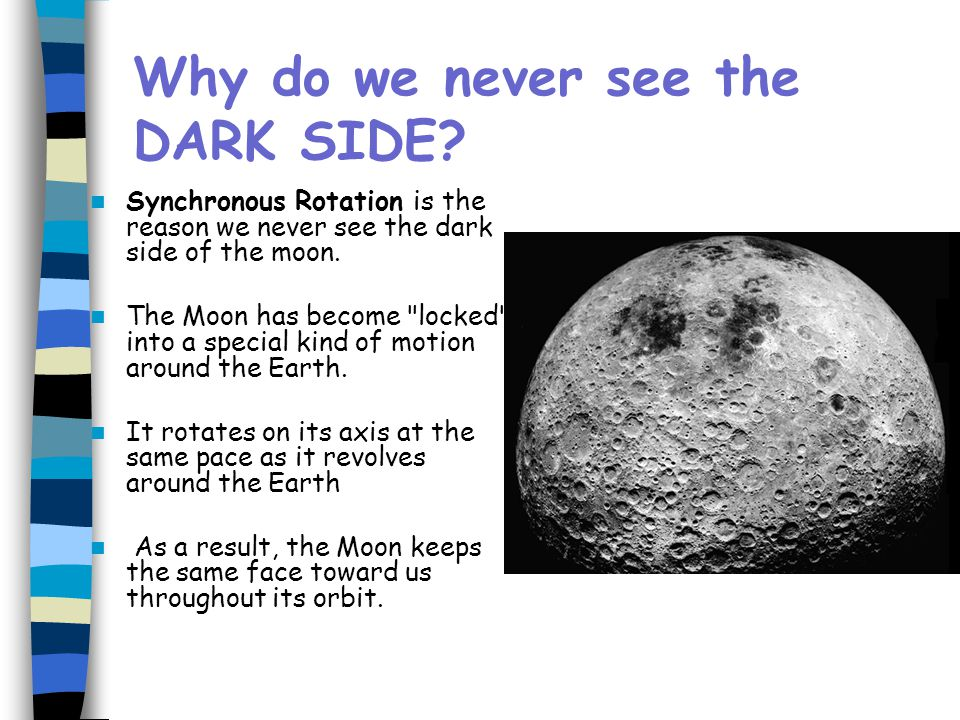 Why do we never see the DARK SIDE