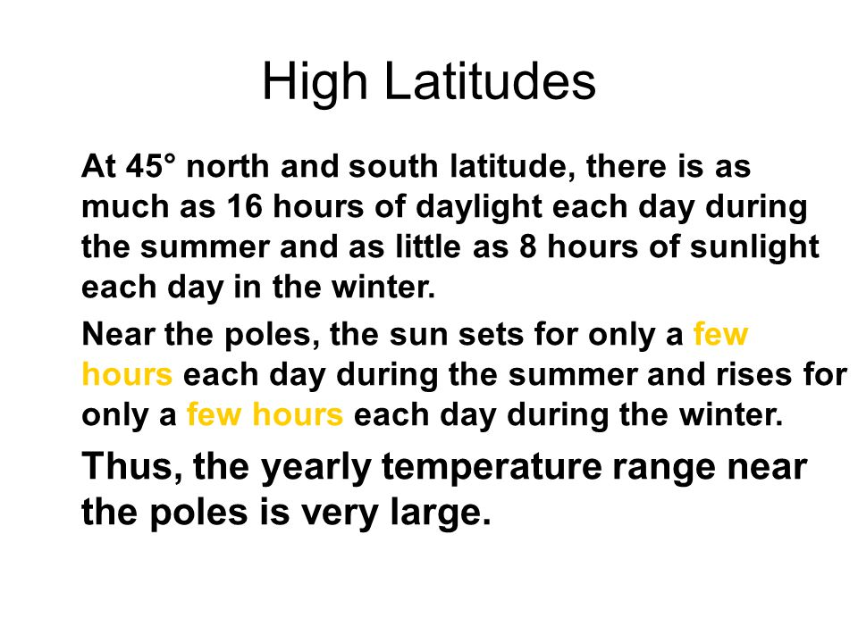 High Latitudes