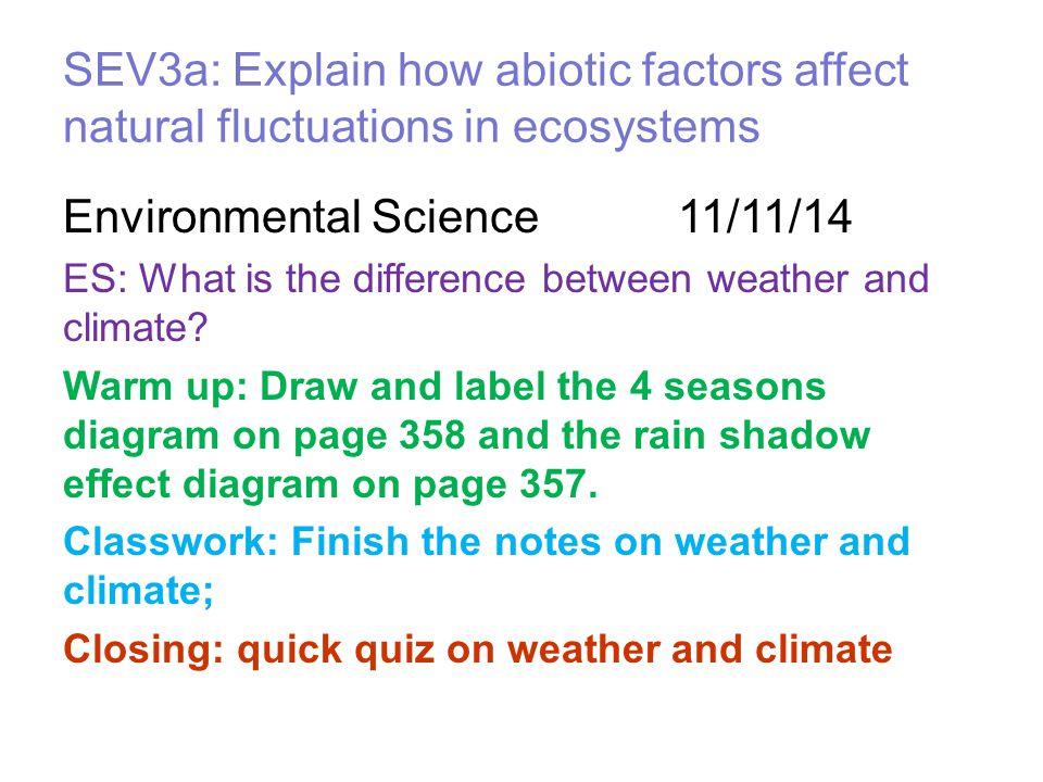 Environmental Science 11/11/14