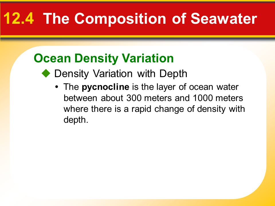 12.4 The Composition of Seawater