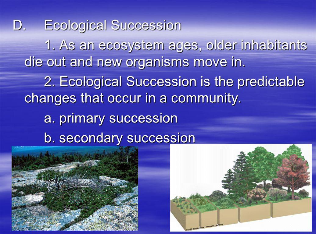D. Ecological Succession