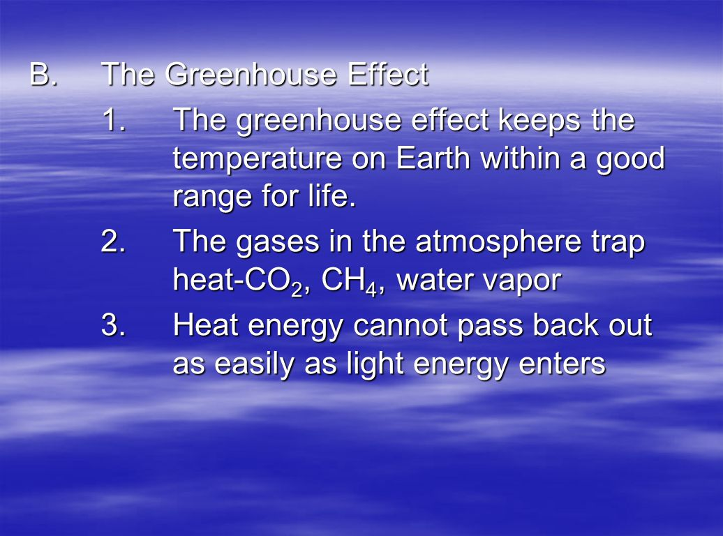 B. The Greenhouse Effect