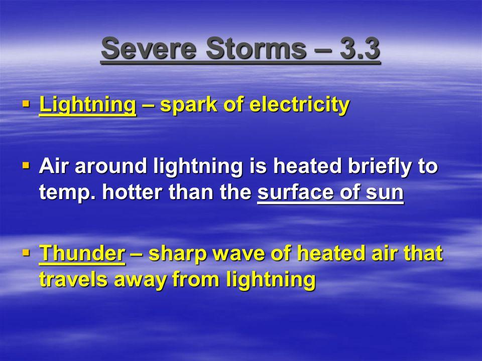 Severe Storms – 3.3 Lightning – spark of electricity