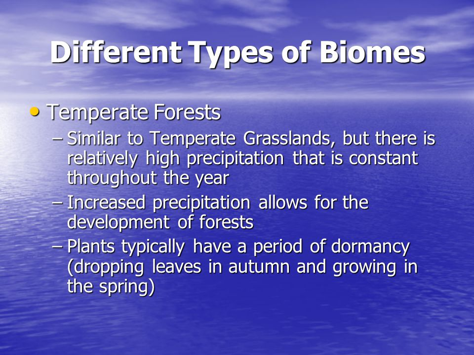 Different Types of Biomes