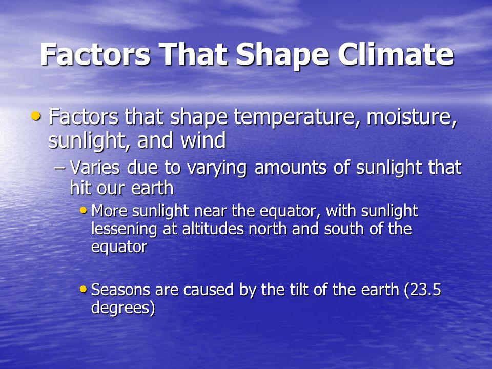 Factors That Shape Climate