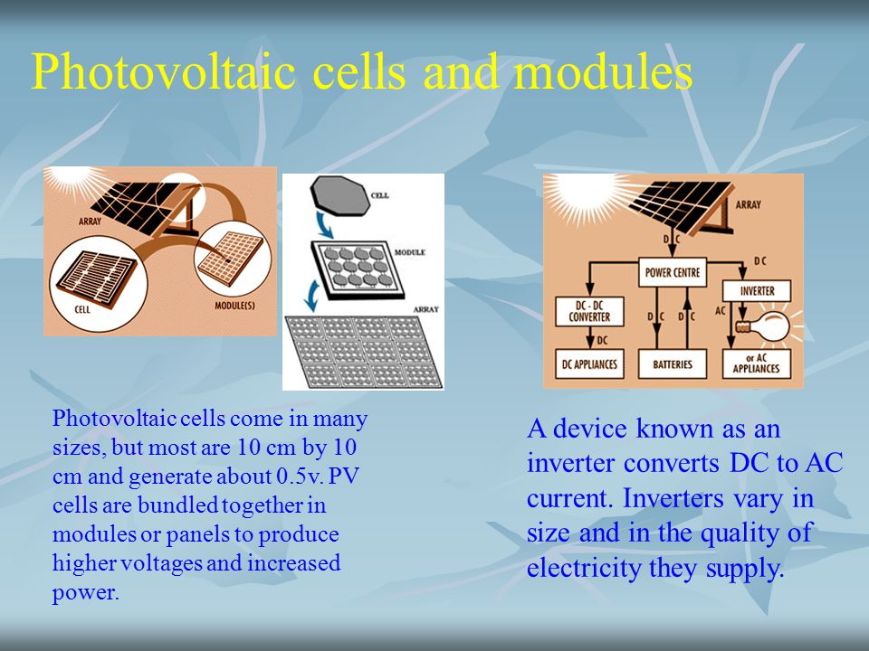 Photovoltaic cells and modules