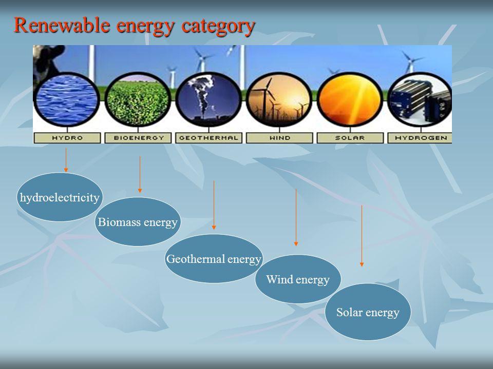 Renewable energy category