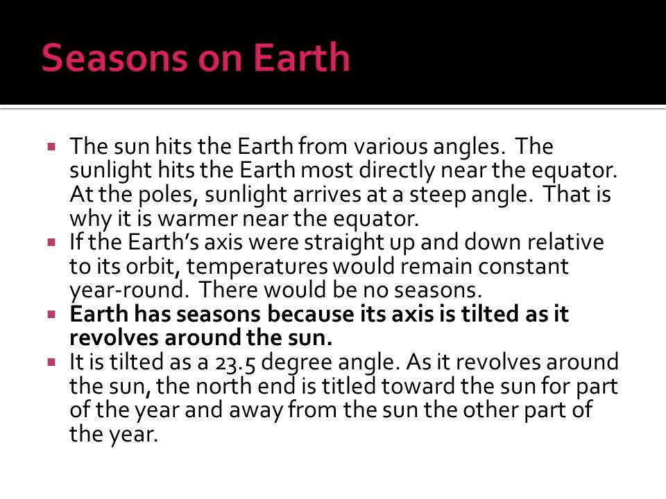 Seasons on Earth