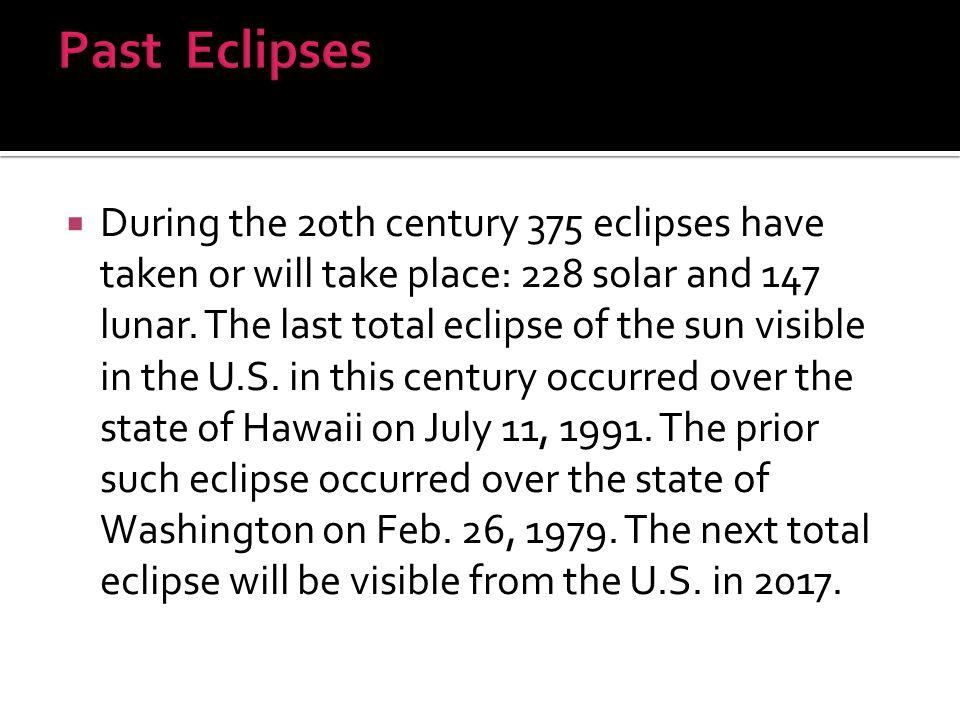 Past Eclipses