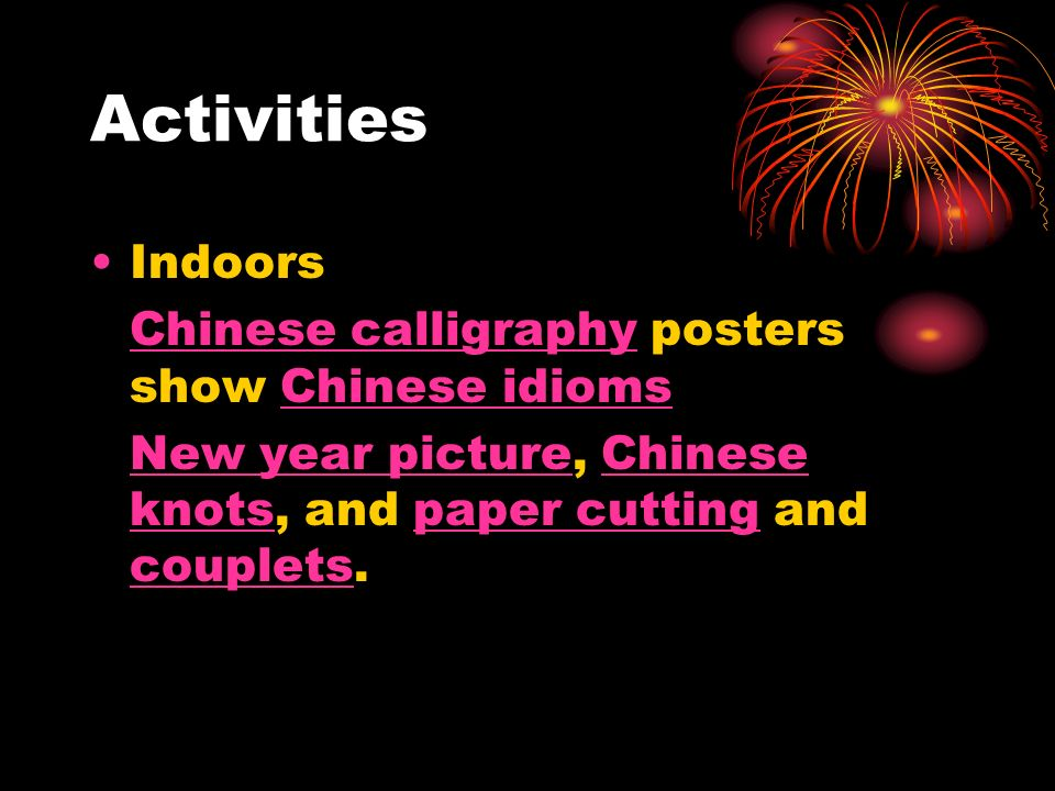 Activities Indoors Chinese calligraphy posters show Chinese idioms