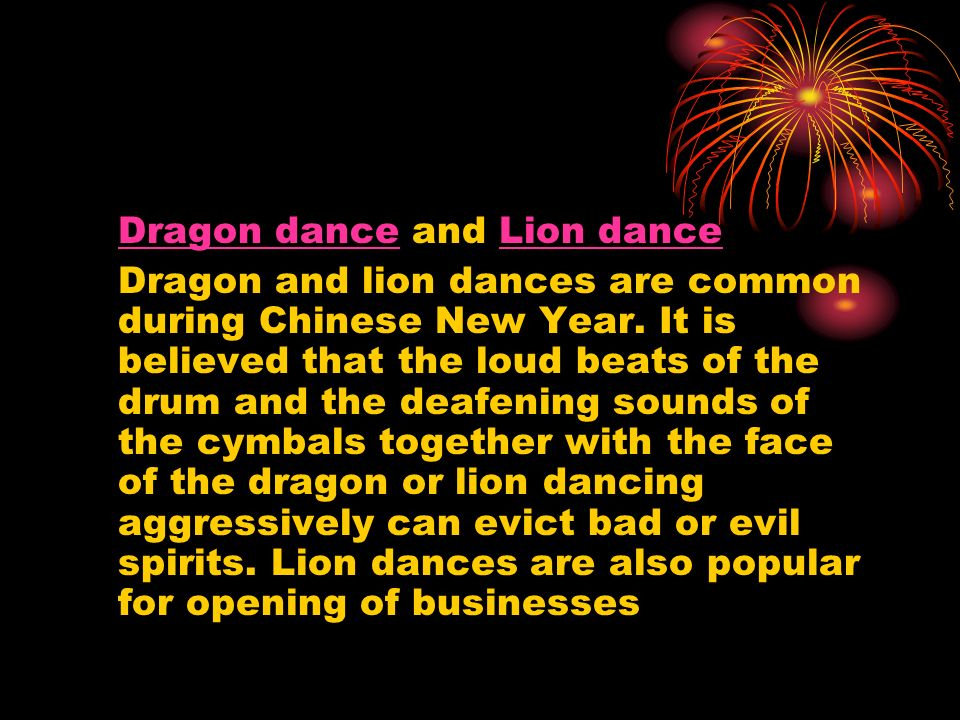 Dragon dance and Lion dance