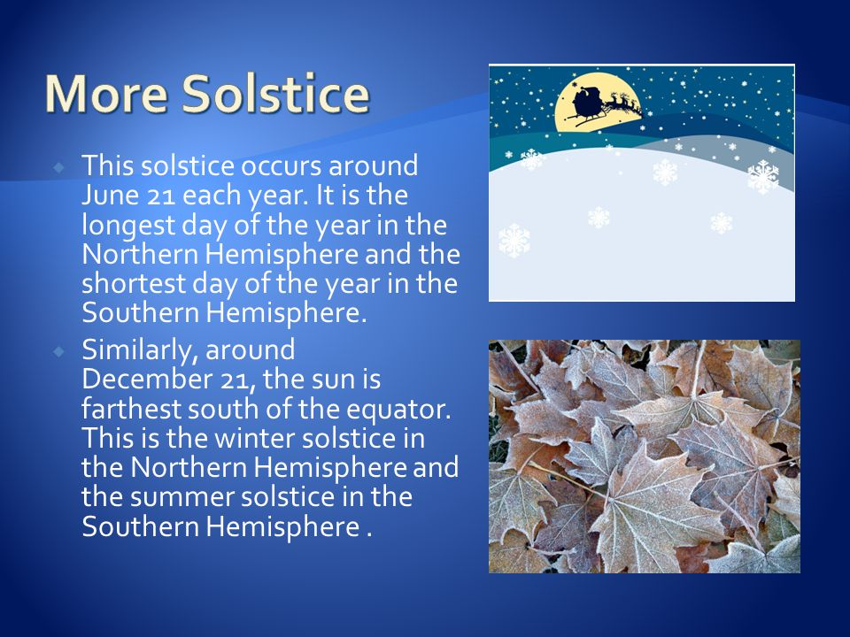More Solstice