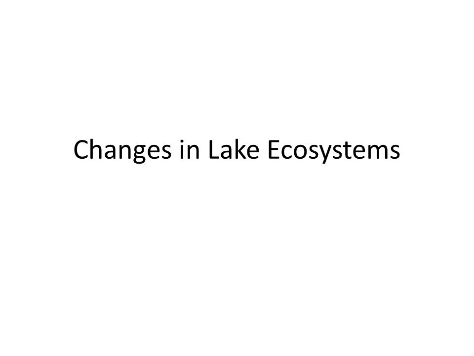 Changes in Lake Ecosystems