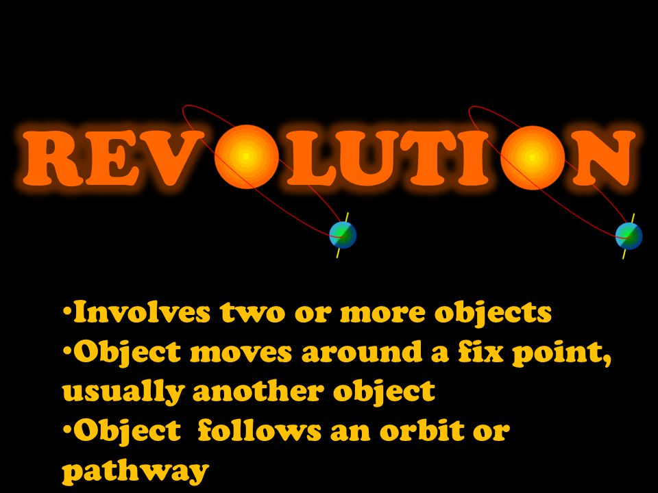 REV LUTI N Involves two or more objects