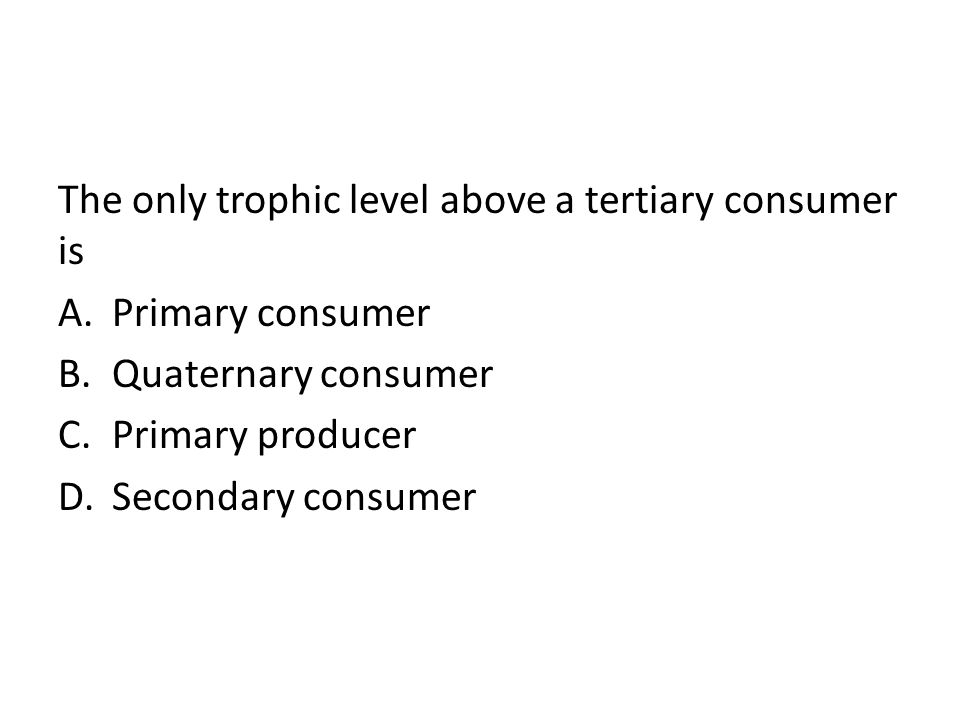 The only trophic level above a tertiary consumer is
