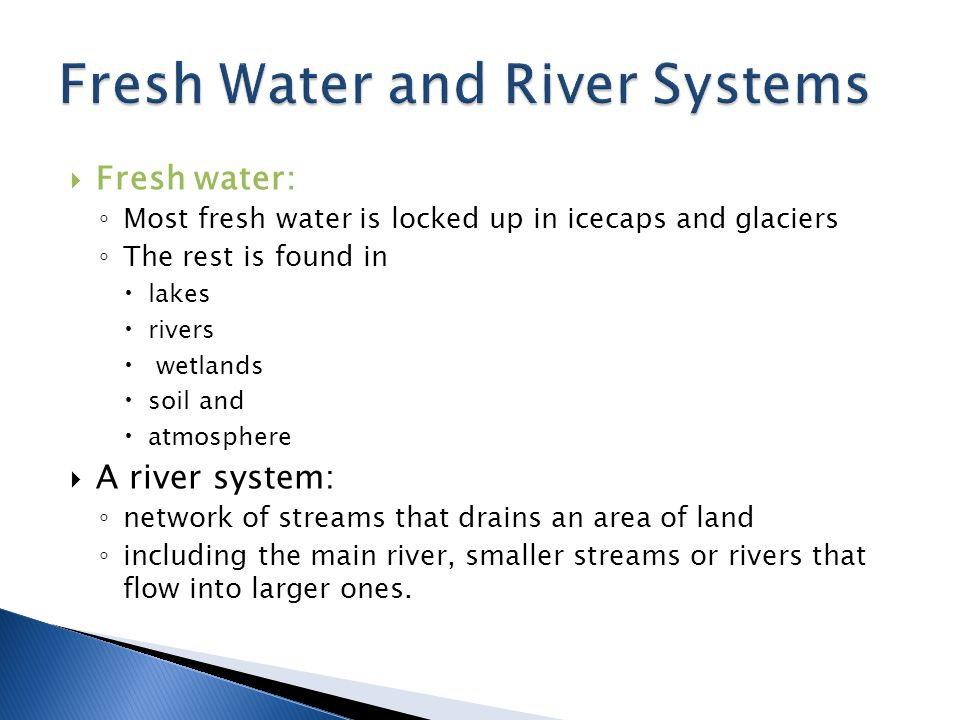 Fresh Water and River Systems