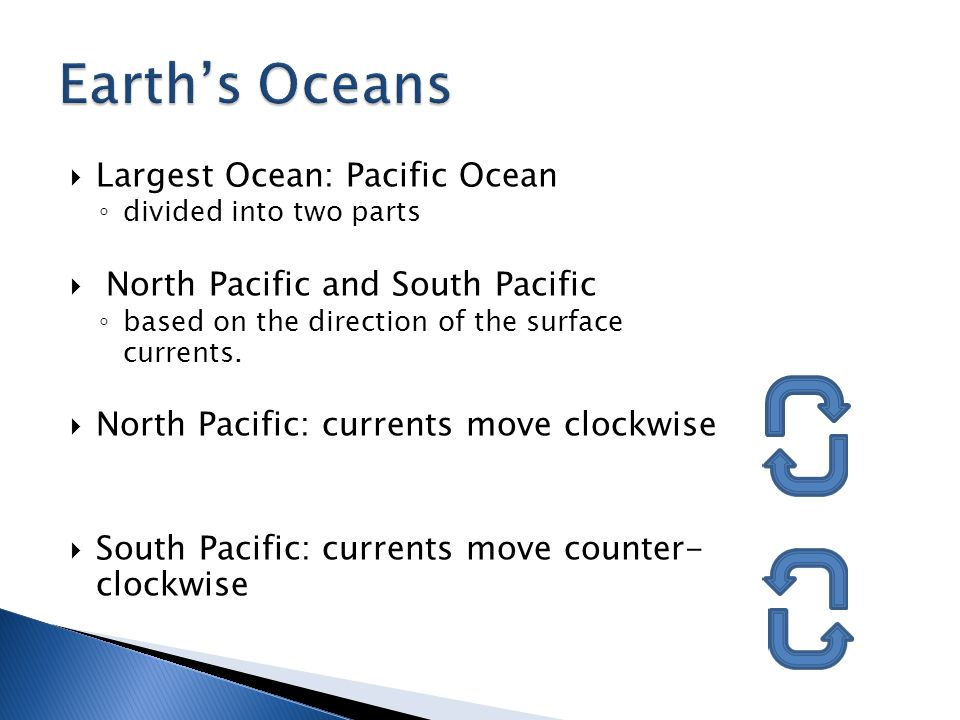 Earth's Oceans Largest Ocean: Pacific Ocean