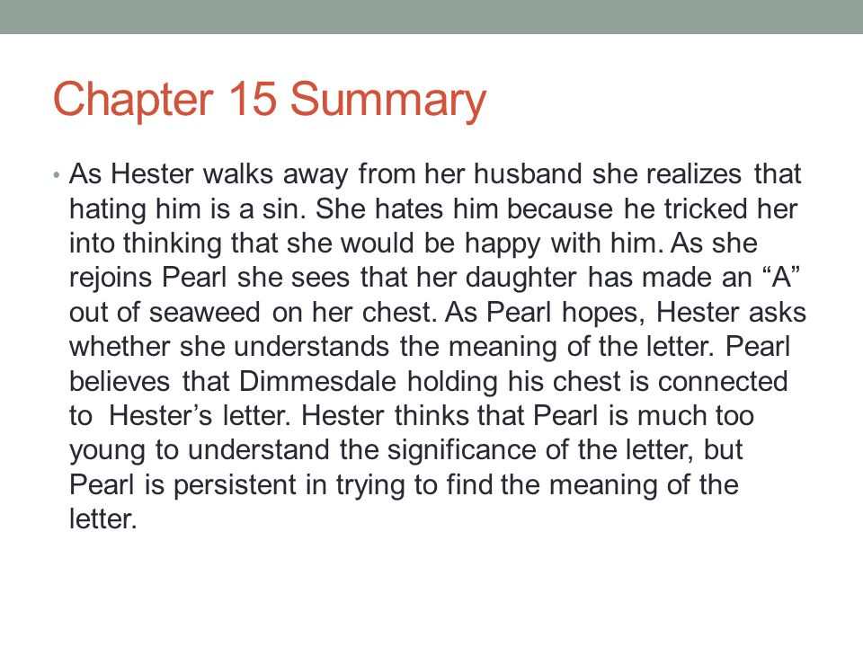 scarlet letter chapter summaries