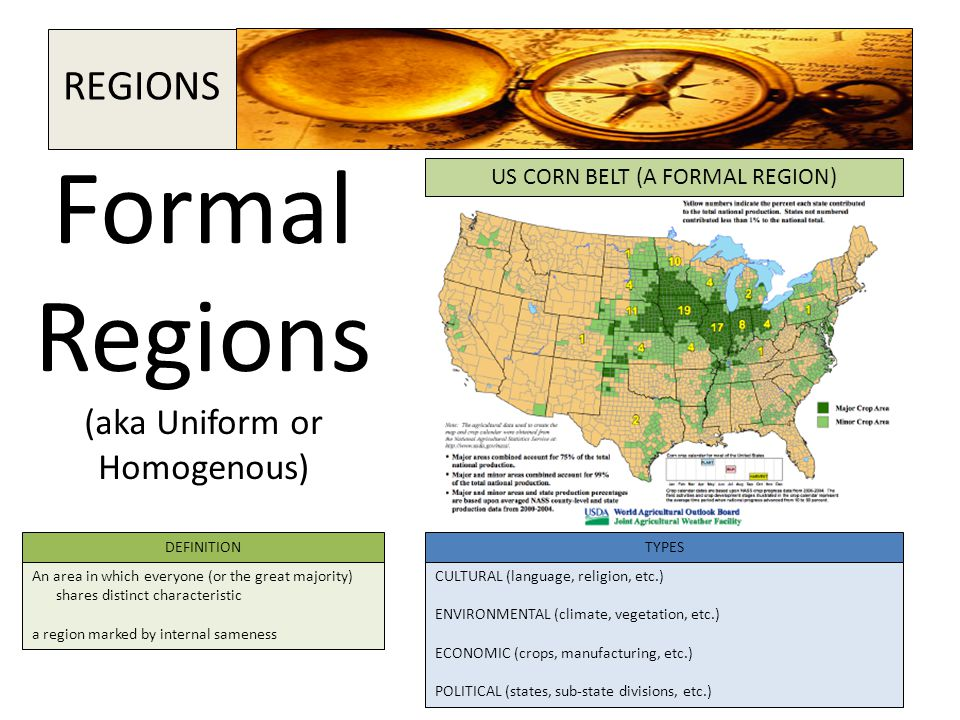 Formal Regions (aka Uniform or Homogenous)