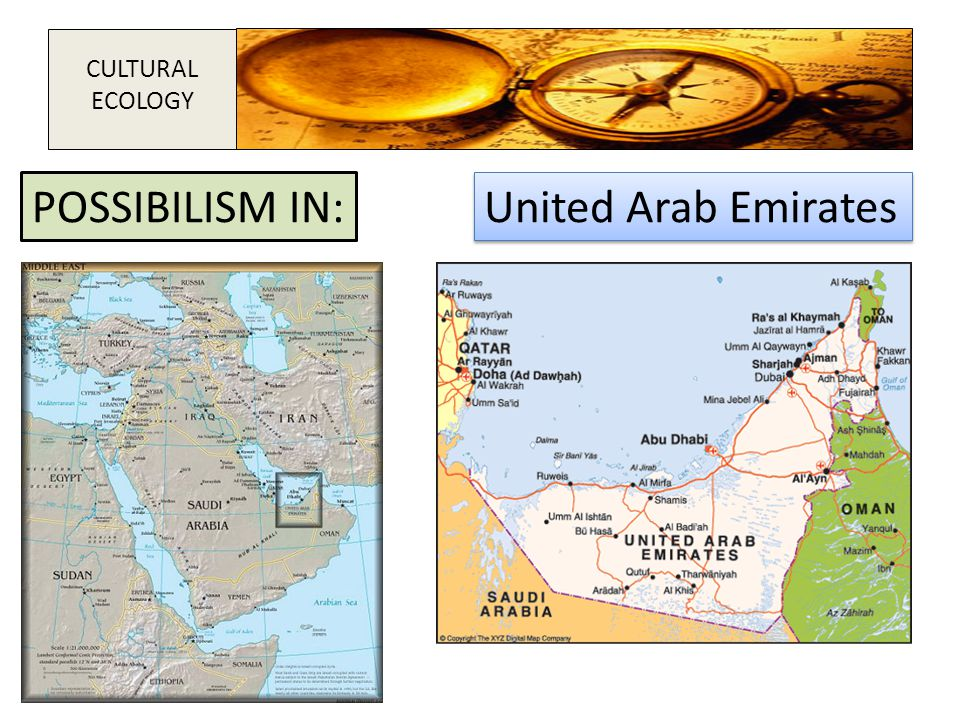 CULTURAL ECOLOGY POSSIBILISM IN: United Arab Emirates