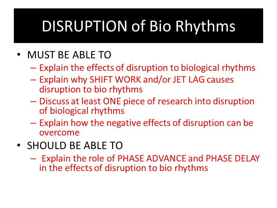 Consequences of disrupting biological rhythms a2