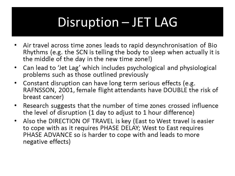 Disruption – JET LAG