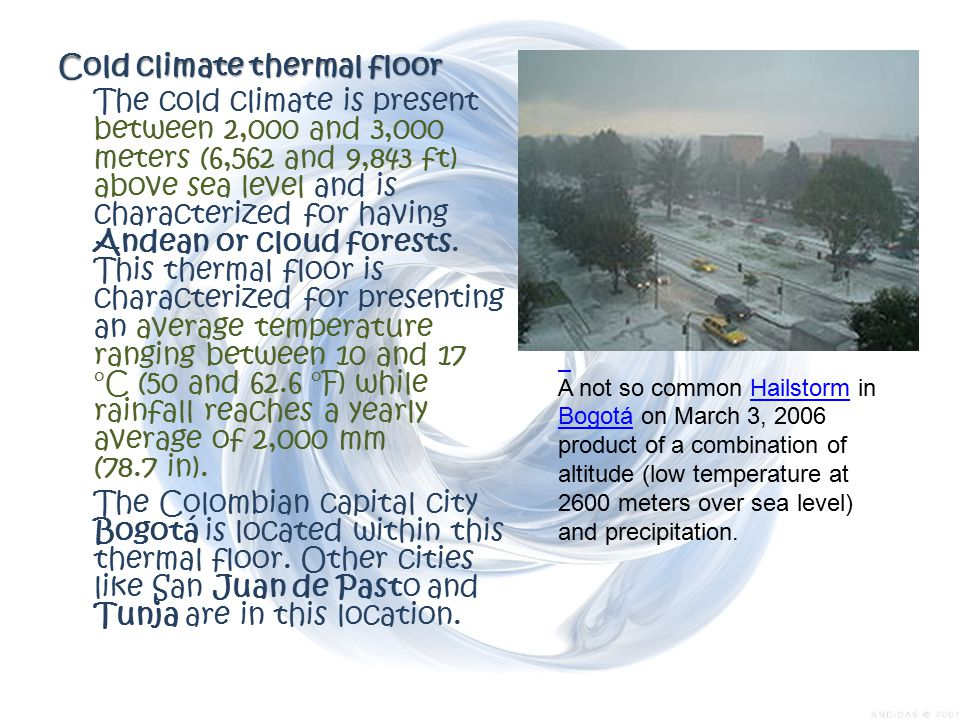 Cold climate thermal floor