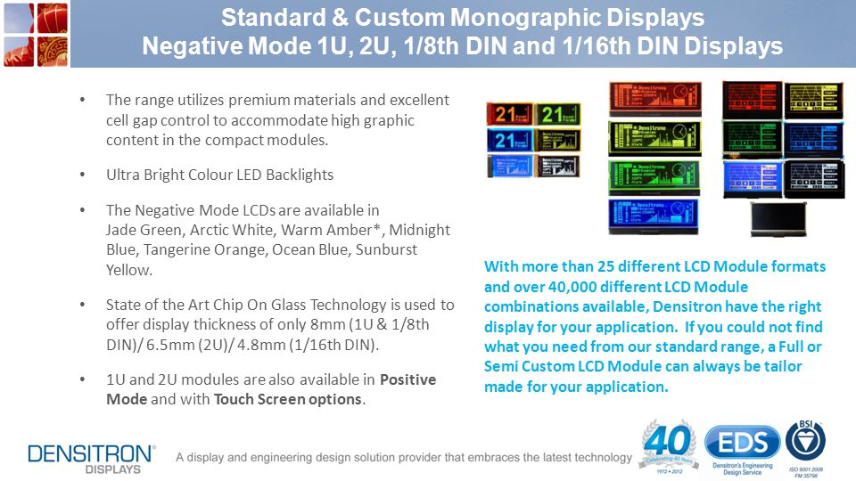 Standard & Custom Monographic Displays