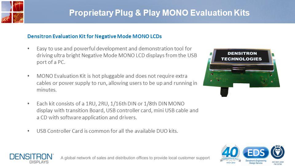 Proprietary Plug & Play MONO Evaluation Kits