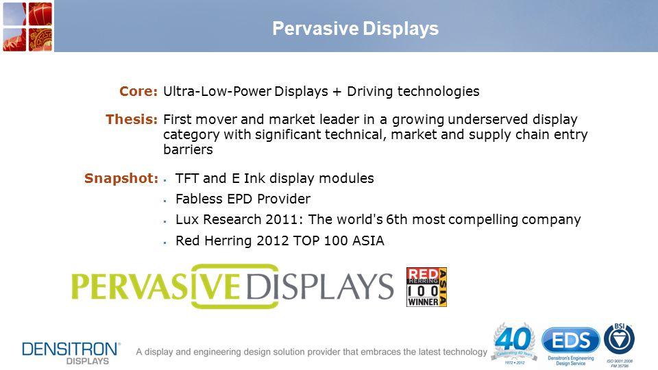 Pervasive Displays Core: