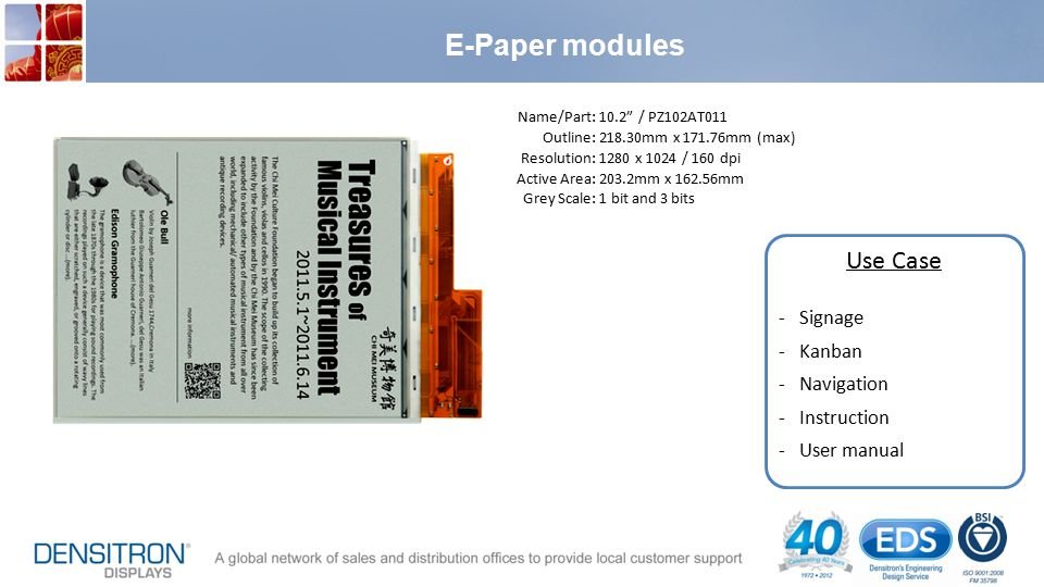 E-Paper modules Use Case Signage Kanban Navigation Instruction