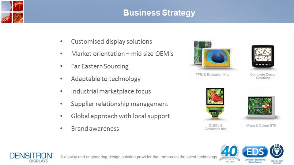 Business Strategy Customised display solutions