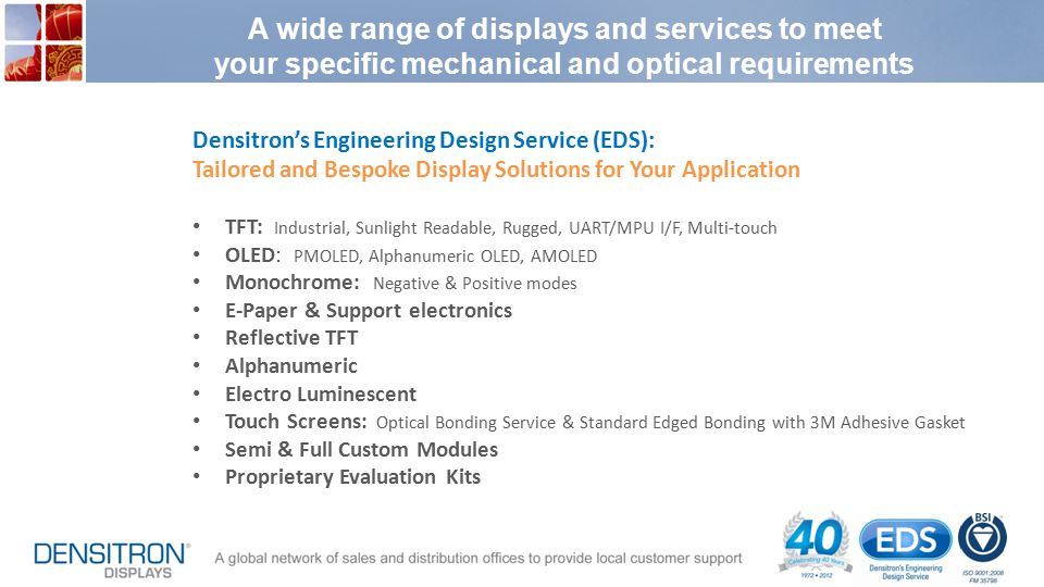 A wide range of displays and services to meet