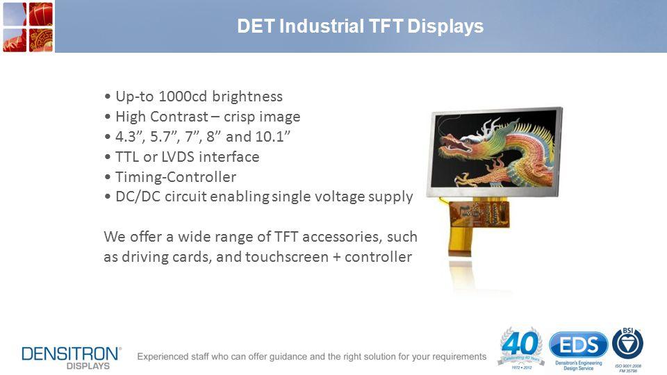 DET Industrial TFT Displays