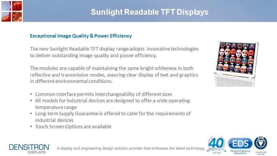 Sunlight Readable TFT Displays