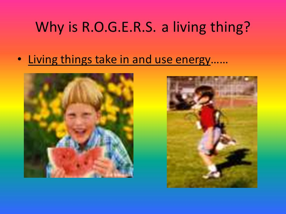 Why is R.O.G.E.R.S. a living thing