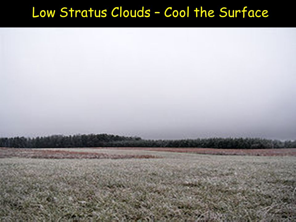 Low Stratus Clouds – Cool the Surface