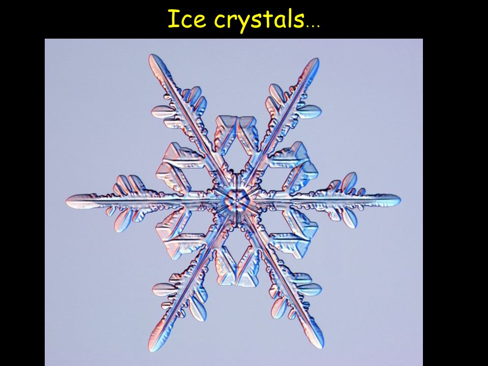 Ice crystals…