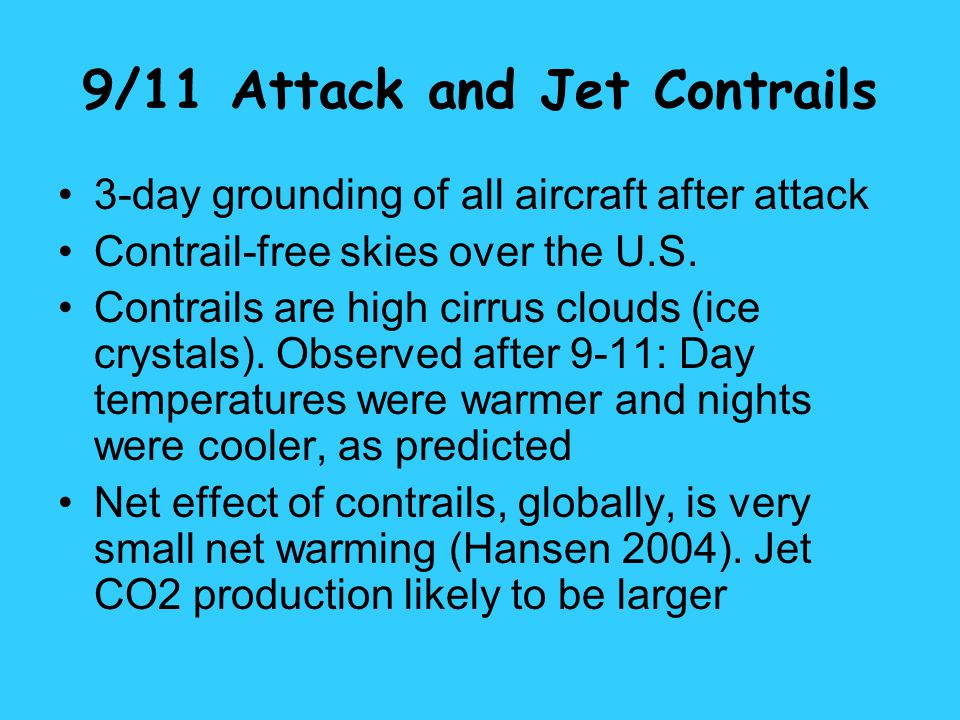 9/11 Attack and Jet Contrails