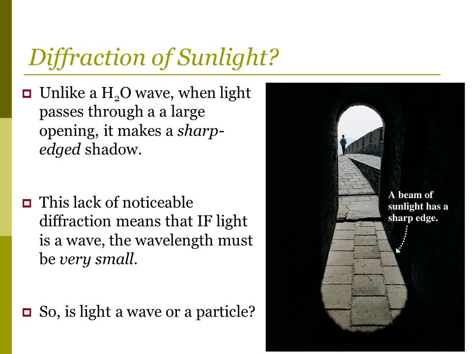Diffraction of Sunlight