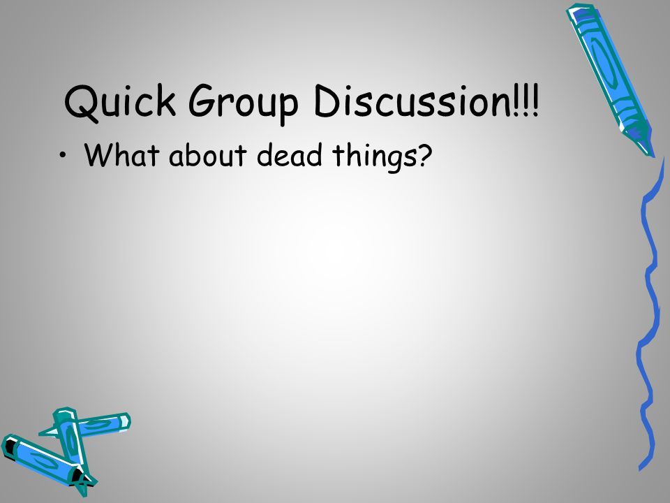 Quick Group Discussion!!!