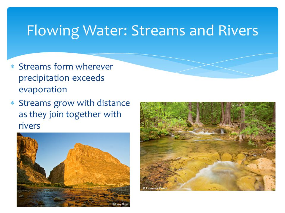 Flowing Water: Streams and Rivers