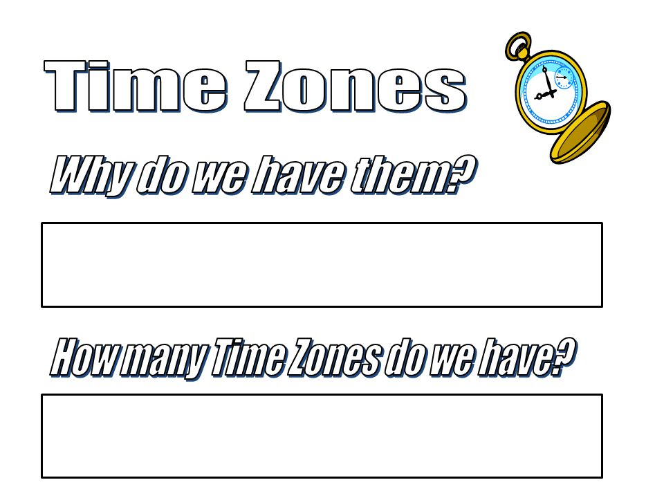 How many Time Zones do we have