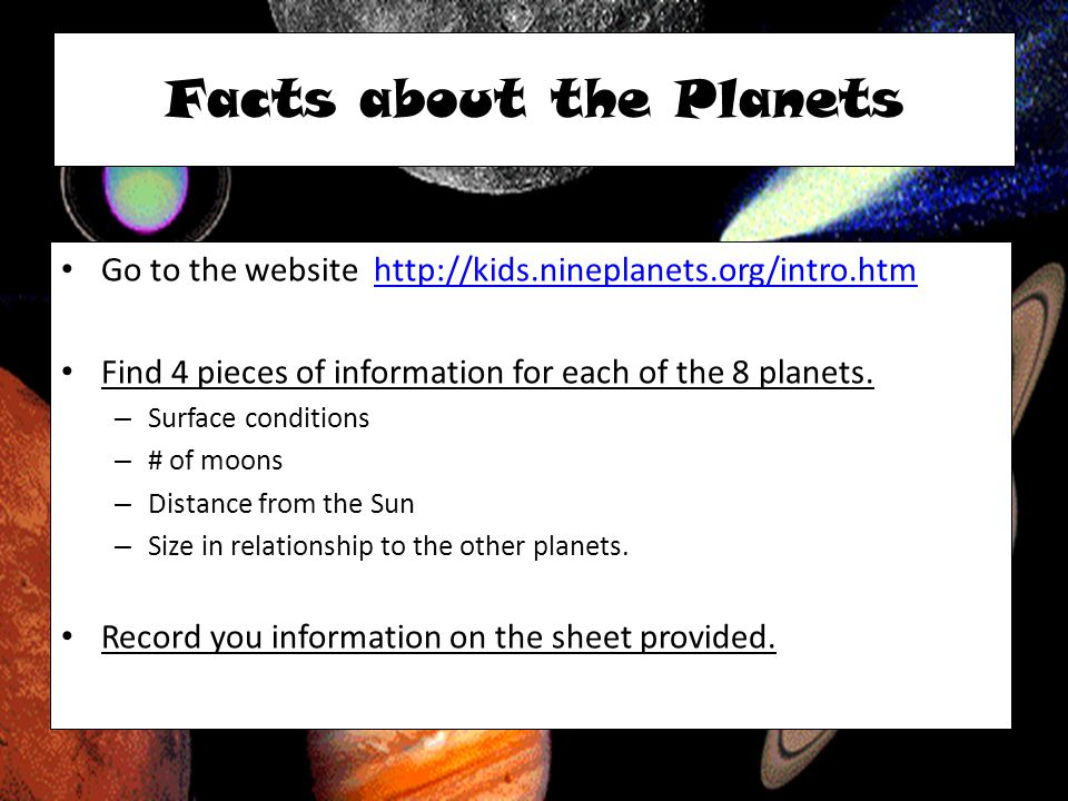 Facts about the Planets