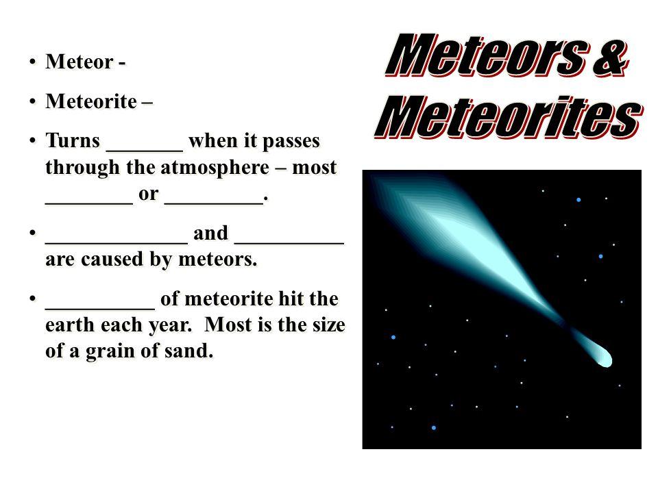 Meteors & Meteorites Meteor - Meteorite –