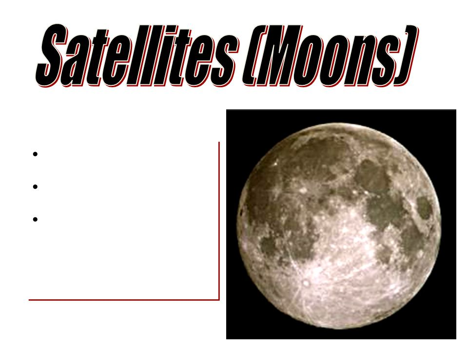 Satellites (Moons)
