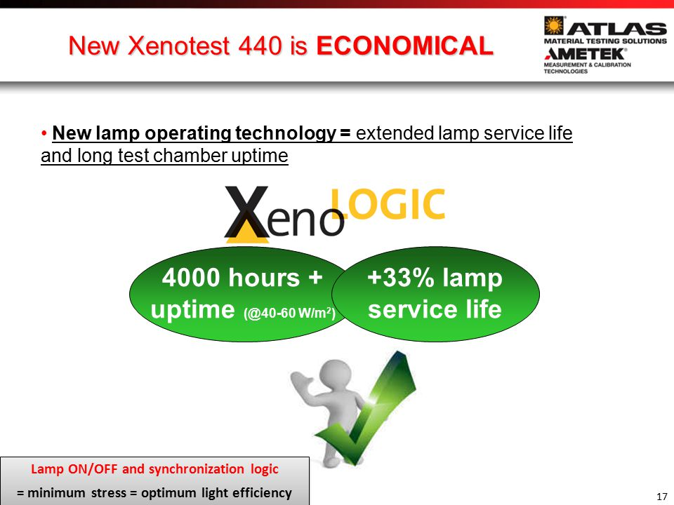 New Xenotest 440 is ECONOMICAL
